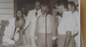 Alex Frieder Signs Dedication of Mariquina (April 23, 1940)