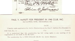 McNutt For President -Official 1940 Club