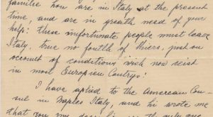 One of Many Desperate Letters To Quezon Seeking Refuge for Family Members (Rose Dryan, 1939)