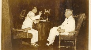 Quezon (Left) and McNutt (Right) 'Discussing' (1938)