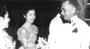 Quezon and Daughter Aurora at Debut (1938)