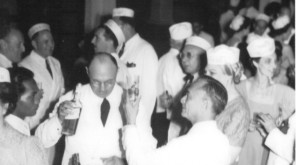 Quezon toasting Frieders, Dinner-Dance (April 25, 1940)